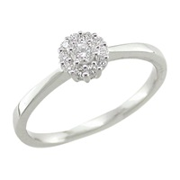 London Road 18Ct White Gold Diamond Cluster Ring White Gold