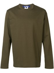 Junya Watanabe Man Crew Neck Sweater Green