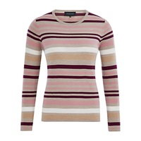 Viyella Merino Wool Stripe Jumper Purple