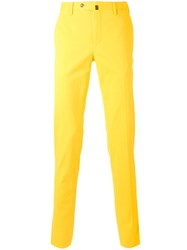 Pt01 Slim Fit Trousers Men Cotton Spandex Elastane 50 Yellow Orange