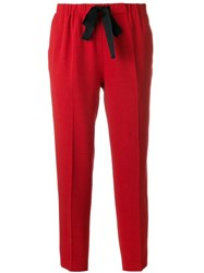 Forte Forte Drawstring Cropped Trousers Red