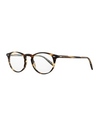 Oliver Peoples Riley R 47 Acetate Fashion Eyeglasses Brown