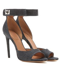 Givenchy Shark 105 Denim Sandals Blue