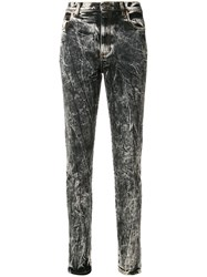 Gucci Acid Wash Slim Fit Jeans Black