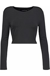 Needle And Thread Heritage Cropped Stretch Jersey Top Black