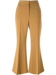 Stella Mccartney Cropped Flared Trousers Brown