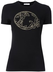 Versace Collection Embellished Logo T Shirt Black