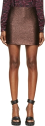 Rodarte Black Copper Lurex Jacquard Mini Skirt