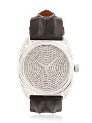 Christian Koban Dom White Diamond And Steel Watch Black