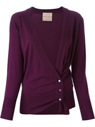 Erika Cavallini Semi Couture 'Alois' Cardigan Pink And Purple