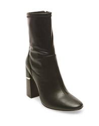 Design Lab Lord And Taylor Melina Stacked Heel Booties Black