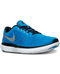 Nike Men's Flex 2016 Running Sneakers From Finish Line Photo Blue Metallic Silve