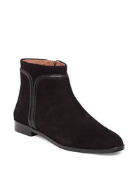 Louise Et Cie Zakiria Piped Leather And Suede Ankle Boots Black