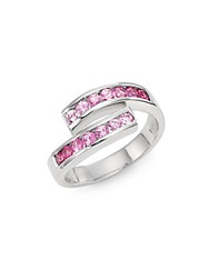 Effy Final Call Pink Sapphire And 14K White Gold Asymmetrical Ring