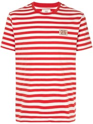 Kent And Curwen Regular Stripe T Shirt Red