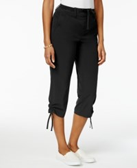 Style And Co Ruched Leg Capri Pants Only At Macy's Deep Black