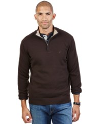 Nautica Quarter Zip Sweater Midnight Cliff