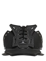 Ktz Lace Up Structured Faux Leather Hat