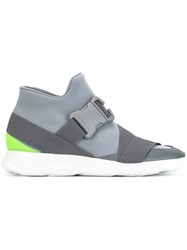 Christopher Kane Safety Buckle Hi Top Sneakers Grey