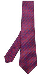 Kiton Chain Pattern Tie Men Silk One Size Red