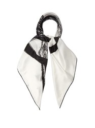 Vetements Anarchy Logo Twill Scarf Black