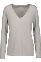 Majestic Cotton Jersey Top Taupe