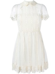 Red Valentino Lace Dress Nude And Neutrals