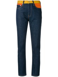 Calvin Klein Jeans Contrasting Waistband Slim Fit Blue