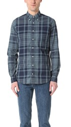 Gitman Brothers Vintage Long Sleeve Archive Madras Shirt Blue