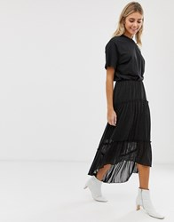 Minimum Moves By Tiered Maxi Skirt Black