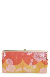 Hobo Women's 'Lauren' Leather Double Frame Clutch Yellow Sunrise Floral