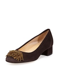 Sesto Meucci Flynn Beaded Fringe Pump Moro Brown