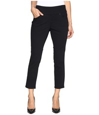 Jag Jeans Petite Amelia Pull On Slim Ankle In Bay Twill Black Women's Casual Pants