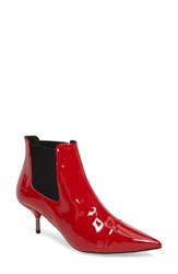 Topshop Women's Monica Kitten Heel Bootie Red