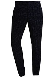 Noose And Monkey Rubens Suit Trousers Navy Dark Blue
