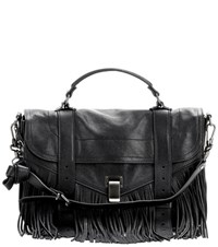 Proenza Schouler Ps1 Medium Fringe Leather Tote Brown