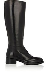 Barneys New York Back Zip Riding Boots Black