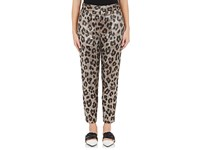 Haider Ackermann Women's Leopard Print Silk Blend Trousers Silver Brown