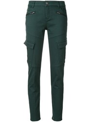 Twin Set Cargo Pocket Skinny Trousers Cotton Polyester Spandex Elastane Green