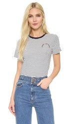 Marc Jacobs Mini Stripe Tee Navy White