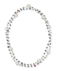 Stephen Dweck Beaded Necklace With Baroque Pearls Multi Pattern