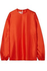 Roksanda Ilincic Silk Satin Blouse Papaya