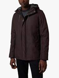 Ted Baker Kinvara Short Hooded Jacket Dark Red