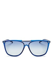 Polaroid Zero Base Polarized Square Sunglasses 57Mm Blue