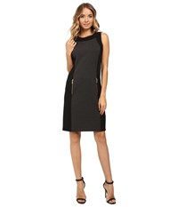 Christin Michaels Dayton Color Block Dress Charcoal Black Women's Dress