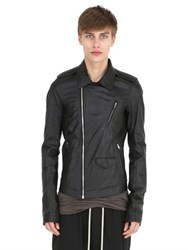 Rick Owens Soft Nappa Leather Biker Jacket