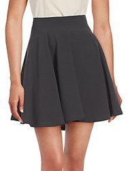 Brunello Cucinelli Pleated Silk Skirt Black