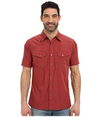 Kuhl Stealth Sun Dried Tomato Men's Short Sleeve Button Up Multi