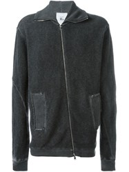 Lost And Found Rooms Off Centre Zip Jacket Black