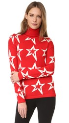 Perfect Moment Star Dust Sweater Red White